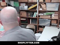 Shoplyfter - Cute Teen Caught And Fucked While Dad Watches Thumb