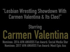 Lesbian Wrestling Showdown With Carmen Valentina & Its Cleo! Thumb