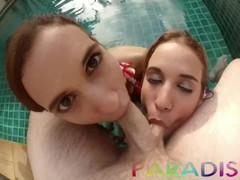 Paradise Gfs - Young twins hotties get fucked and giving head Thumb