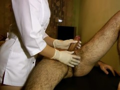 Hot Nurse Does Perfect Prostate Massage - POV Impulsive Chest Cumshot Thumb
