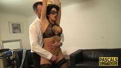 Bound milf in lingerie Thumb